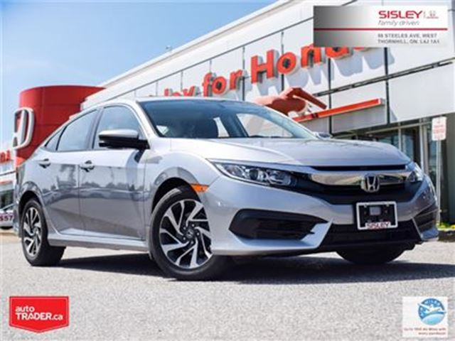 2016 HONDA Civic EX - ALLOY WHEELS/BACK UP CAM/SUNROOF in Thornhill, Ontario