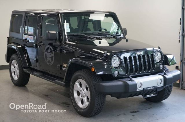 2015 JEEP WRANGLER Unlimited Sahara  LOW KM  NO ACCIDENTS in Port Moody, British Columbia