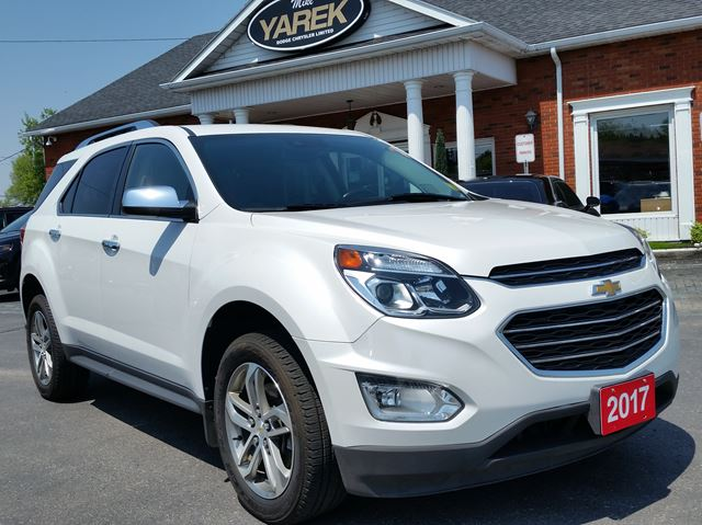 2017 CHEVROLET EQUINOX Premier AWD, Leather Heated, Remote Start, Sunroof, NAV, Pwr Gate in Paris, Ontario