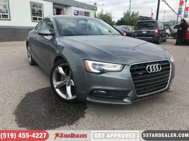 2014 AUDI A5 2.0 Komfort   1 OWNER   LEATHER   ROOF in London, Ontario