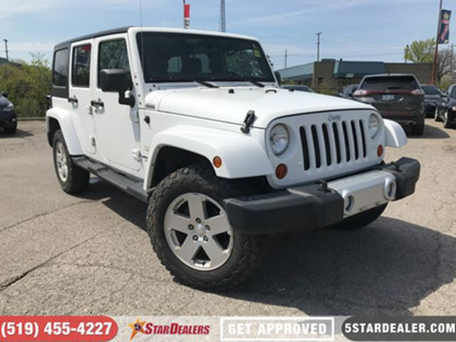 2011 JEEP WRANGLER Unlimited Sahara   HEATED SEATS   4X4 in London, Ontario