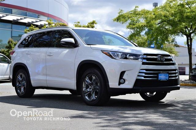 2018 TOYOTA Highlander Limited - Navigation, Dual moonroof, Heated/coo in Richmond, British Columbia