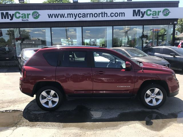2016 JEEP COMPASS Sport/North HIGH ALTITUDE, LEATHER, SUNROOF, HEATED SEATS in North Bay, Ontario