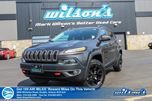 2015 Jeep Cherokee TRAILHAWK   4X4   LEATHER TRIM   REMOTE START   TOUCHSCREEN in Guelph, Ontario