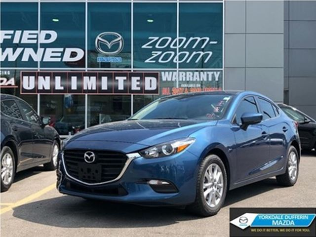 2018 MAZDA MAZDA3 GS/ADVANCED BLIND SPOT/HEATED SEATS/0% in Toronto, Ontario