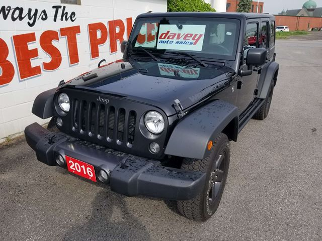 2016 JEEP WRANGLER Unlimited Sport 4X4, HARD AND SOFT TOP, HEATED SEATS in Oshawa, Ontario