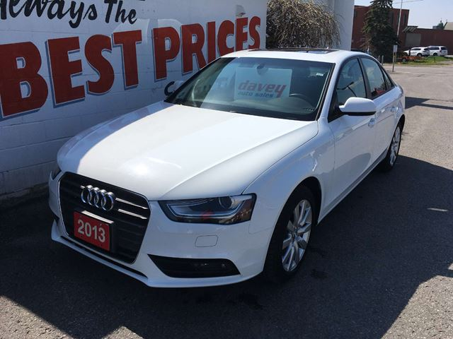 2013 AUDI A4 2.0T ALL WHEEL DRIVE, SUNROOF, LEATHER in Oshawa, Ontario
