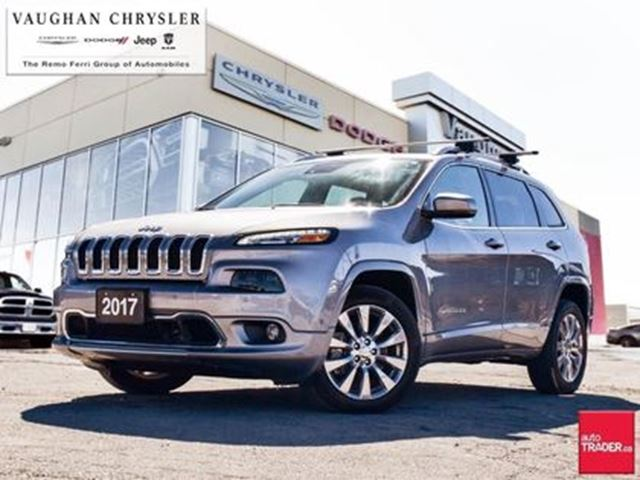 2017 JEEP CHEROKEE 1 Owner Cherokee Overland* Panoramic Sunroof in Woodbridge, Ontario