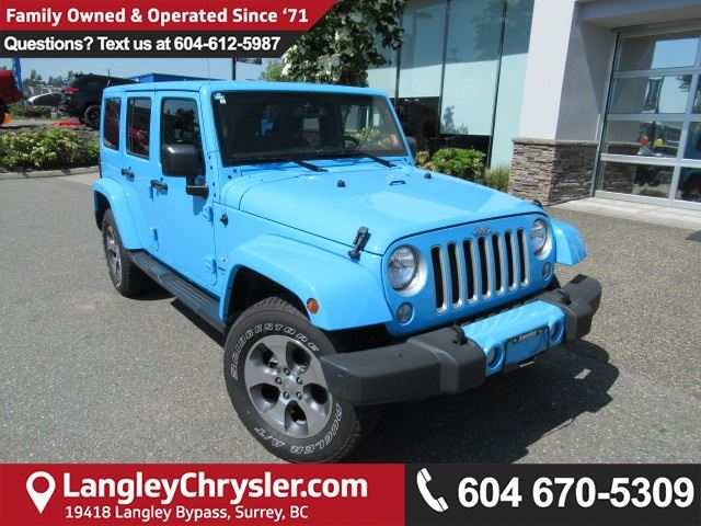 2017 JEEP WRANGLER Unlimited Sahara in Surrey, British Columbia