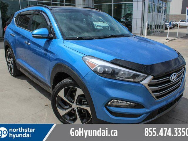 2016 HYUNDAI TUCSON ULTIMATE COLLISION WARNING/COOLEDSEATS/PANOROOF/LEATHER/BSD in Edmonton, Alberta