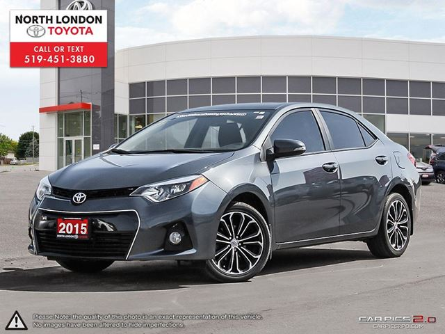 2015 TOYOTA COROLLA S One Owner, No Accidents, Toyota Serviced in London, Ontario