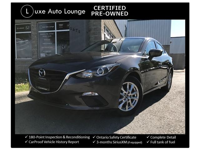 2014 Mazda MAZDA3 GS-SKY ONLY 49,000KM! AUTO, HEATED SEATS, BACK-UP CAMERA, CRUISE, LOADED! LUXE CERTIFIED PRE-OWNED! in Orleans, Ontario