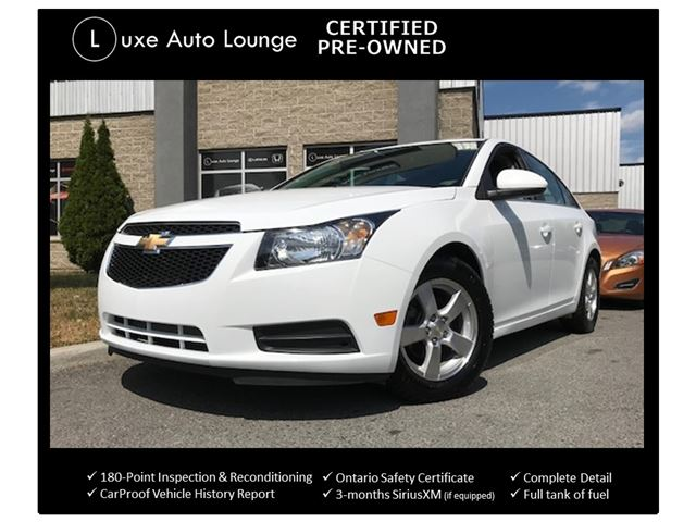 2014 Chevrolet Cruze 2LT ONLY 59K! AUTO, LEATHER, HEATED SEATS, POWER DRIVER SEAT, REMOTE START, LOADED! LUXE CERTIFIED PRE-OWNED! in Orleans, Ontario