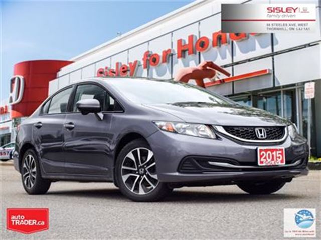 2015 HONDA Civic EX - ALLOY WHEELS/BACK CAM/SUNROOF in Thornhill, Ontario