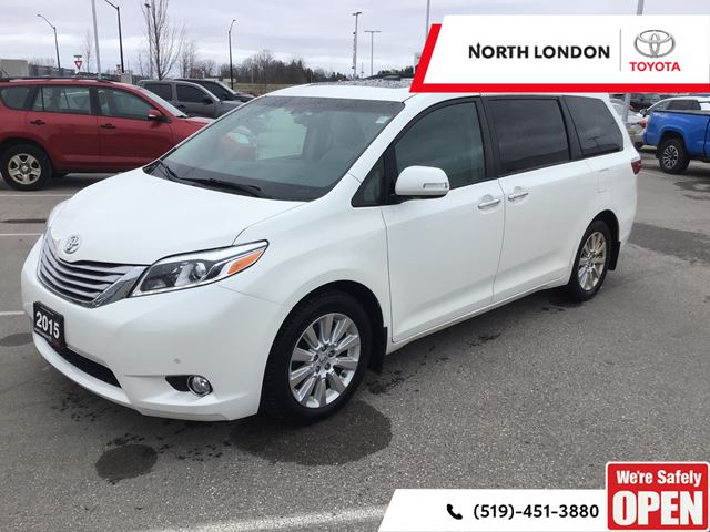 2015 TOYOTA SIENNA XLE 7 Passenger Limited AWD! One Owner, No Accidents, Toyota Serviced in London, Ontario