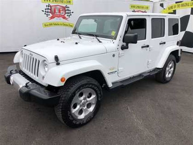 2015 JEEP WRANGLER Unlimited Sahara, Auto, Navigation, 4x4, 75,000km in Burlington, Ontario