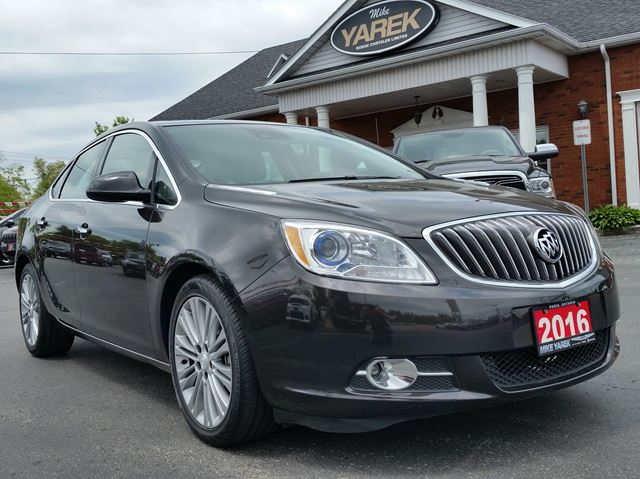 2016 BUICK VERANO Leather Heated Seats/Wheel, NAV, Sunroof, Back Up Cam/Sensors, Bluetooth, Remote Start in Paris, Ontario