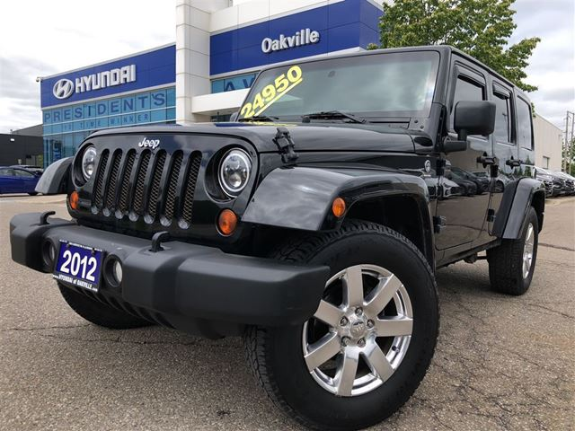 2012 JEEP WRANGLER Unlimited WRANGLER UNLIMITED  4X4  SOFT TOP  NO ACCIDENT in Oakville, Ontario