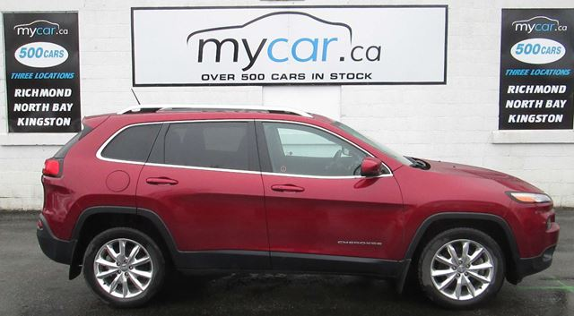 2015 JEEP CHEROKEE Limited LEATHER, SUNROOF, NAVIGATION in North Bay, Ontario