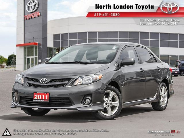 2011 TOYOTA COROLLA S Serviced by Toyota Dealers, No Accidents in London, Ontario