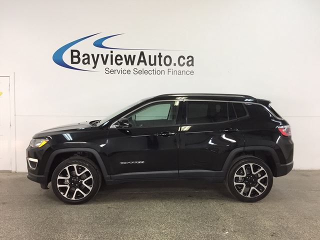 2017 JEEP COMPASS Limited - 4x4! PANOROOF! HTD LTHR! NAV! U-CONNECT! HTD STEERING WHEEL! in Belleville, Ontario