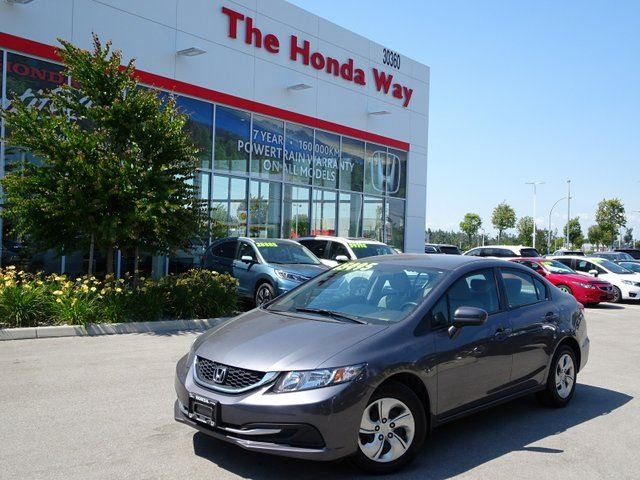 2015 HONDA Civic LX Sedan CVT warranty until 2022 or 160,000km in Abbotsford, British Columbia