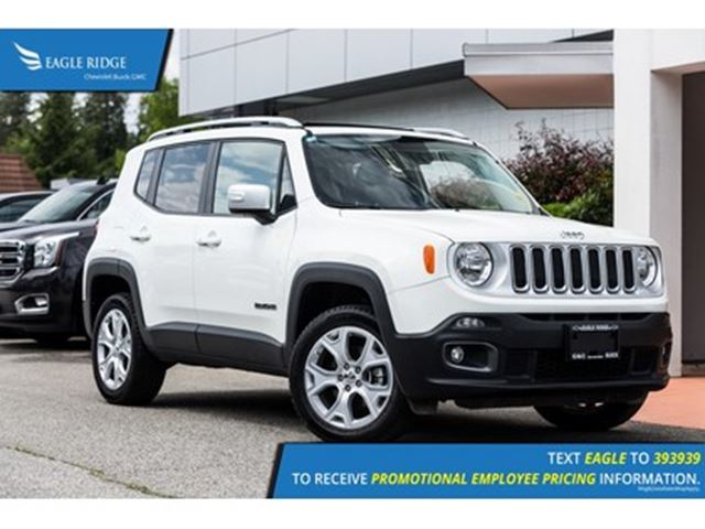 2017 JEEP RENEGADE Limited Nav, Sunroof, Heated Seats, 4WD in Coquitlam, British Columbia