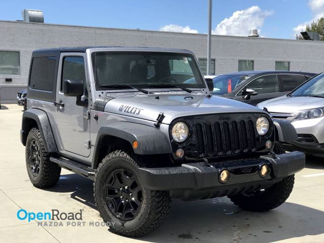 2017 JEEP WRANGLER Willys Wheeler A/T 4WD No Accident Local One Ow in Port Moody, British Columbia