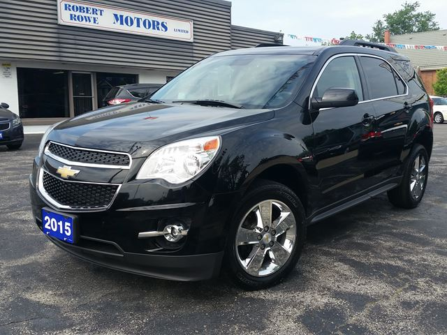 2015 Chevrolet Equinox LT-2,V6-ALL WHEEL DRIVE,SUNROOF,NAVIGATION,CHROME WHEELS,LEATHER,FACTORY WARRANTY-160.000 KLM in Dunnville, Ontario