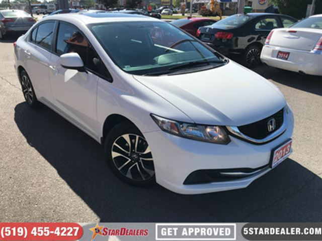 2013 HONDA CIVIC EX   ROOF   CAM   BLUETOOTH in London, Ontario