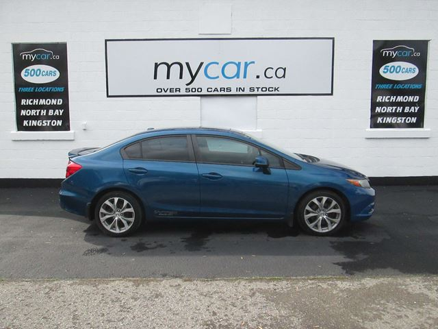 2012 HONDA CIVIC Si SI, SUNROOF, NAVIGATION in North Bay, Ontario