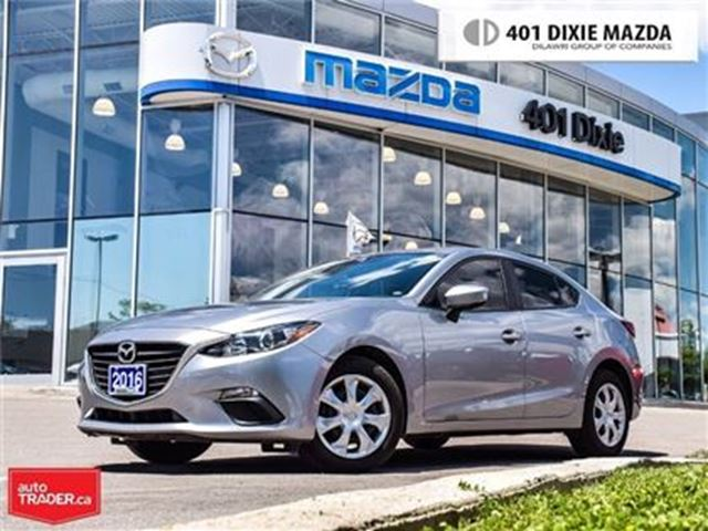 2016 MAZDA MAZDA3 GX, 1.9% FINANCE AVAILABLE, NO ACCIDENTS in Mississauga, Ontario