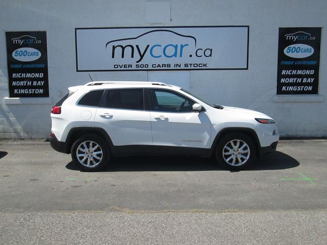 2014 JEEP CHEROKEE Limited LIMITED, LEATHER, NAVIGATION, V6 ,HTD SEATS in North Bay, Ontario