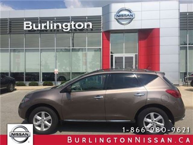 2009 NISSAN MURANO SL, PWR. TAILGATE, PANAROOF, ACCIDENT FREE ! in Burlington, Ontario