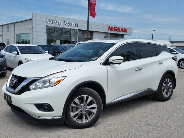 2016 NISSAN MURANO SL AWD w/all leather,NAV,panoramic roof,heated seats,rear cam,pwr group in Cambridge, Ontario
