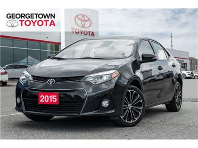 2015 TOYOTA COROLLA S BACK UP CAMERA SUNROOF HEATED SEATS in Georgetown, Ontario