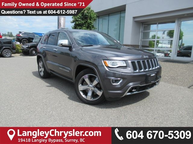 2016 Jeep Grand Cherokee Overland in Surrey, British Columbia