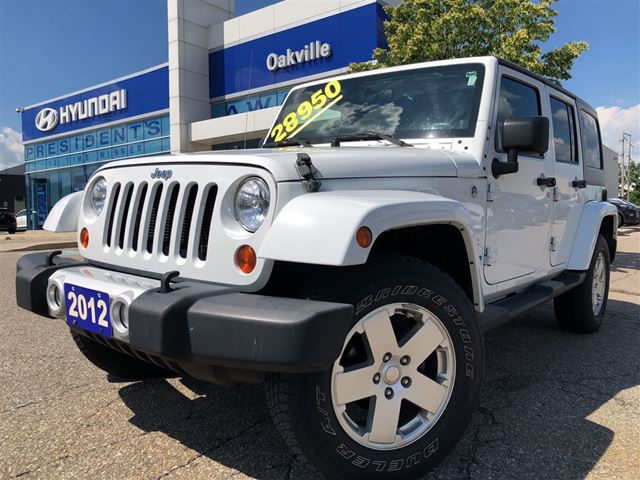 2012 JEEP Wrangler Unlimited 3.6L  4X4  HARD AND SOFT TOP  ONE OWNER in Oakville, Ontario