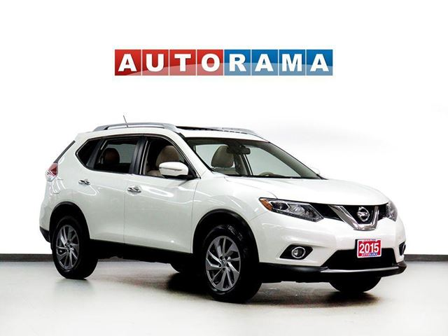 2015 NISSAN Rogue SL NAVIGATION LEATHER PAN SUNROOF 4WD BACKUP CAM in North York, Ontario