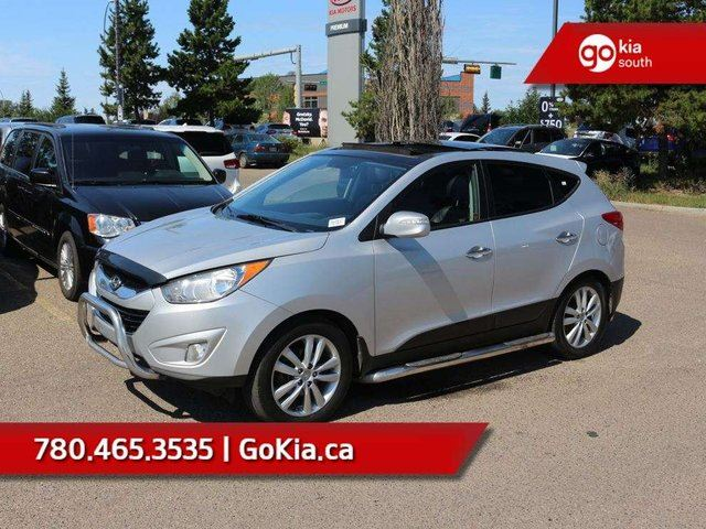 2012 HYUNDAI Tucson LIMITED; LEATHER HEATED SEATS, SUNROOF, AWD, CHROME BUMPERS/RUNNING BOARDS in Edmonton, Alberta