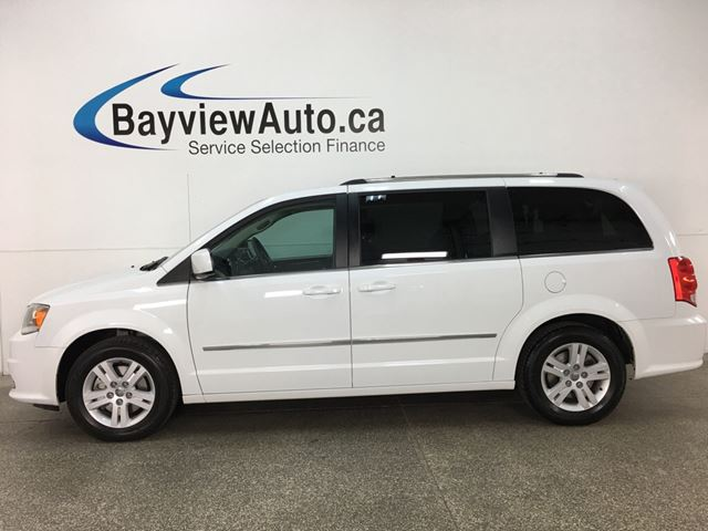 2017 DODGE Grand Caravan Crew STOW 'N GO! HTD LTHR! 3 ZONE CLIMATE! DVD! NAV! U-CONNECT! PWR SLIDERS! in Belleville, Ontario