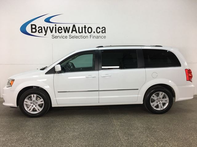 2017 DODGE Grand Caravan Crew - STOW 'N GO! HTD LTHR! DVD! NAV! U-CONNECT! PWR DOORS! in Belleville, Ontario