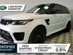 2017 Land Rover Range Rover Sport SVR - CPO 6yr/160000kms manufacturer warranty included until September 8, 2023! CPO rates starting at 2.9%! in Edmonton, Alberta