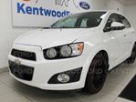 2013 Chevrolet Sonic LT 5-SPD manual with heated/cooled seats and a sunroof in Edmonton, Alberta
