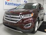 2017 Ford Edge SEL AWD, NAV, heated power leather seats and a unique burgundy colour in Edmonton, Alberta