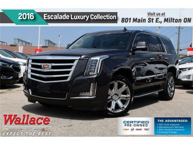 2016 Cadillac Escalade Luxury Collection/SUNRF/HTD&CLD STS/22s/HTD WHL in Milton, Ontario
