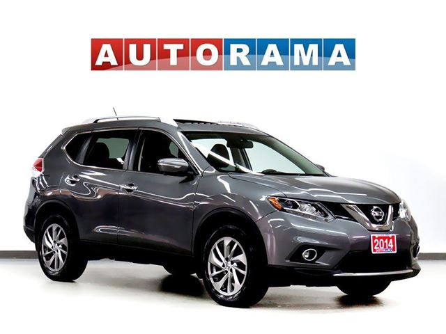 2014 Nissan Rogue SL NAVIGATION LEATHER PAN SUNROOF 4WD BACKUP CAM in North York, Ontario