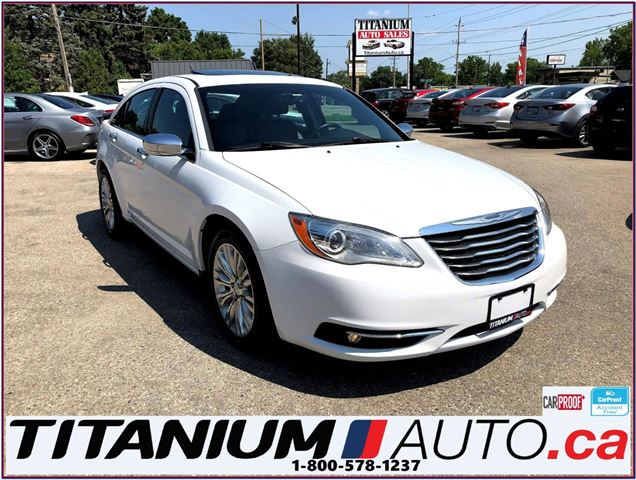 2014 Chrysler 200 Limited-Camera-Sunroof-Leather Seats-New Tires-XM- in London, Ontario