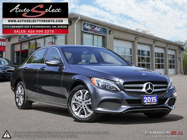 2015 MERCEDES-BENZ C-Class 4Matic C300 AWD ONLY 81K! **TECHNOLOGY PKG** CLN CARPROOF in Scarborough, Ontario