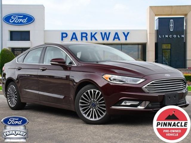2017 Ford Fusion Se Fwd Leather Sunroof Accident Free Burgundy